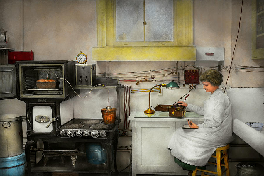 Kitchen Photograph - Kitchen - How I Bake Bread 1923 by Mike Savad