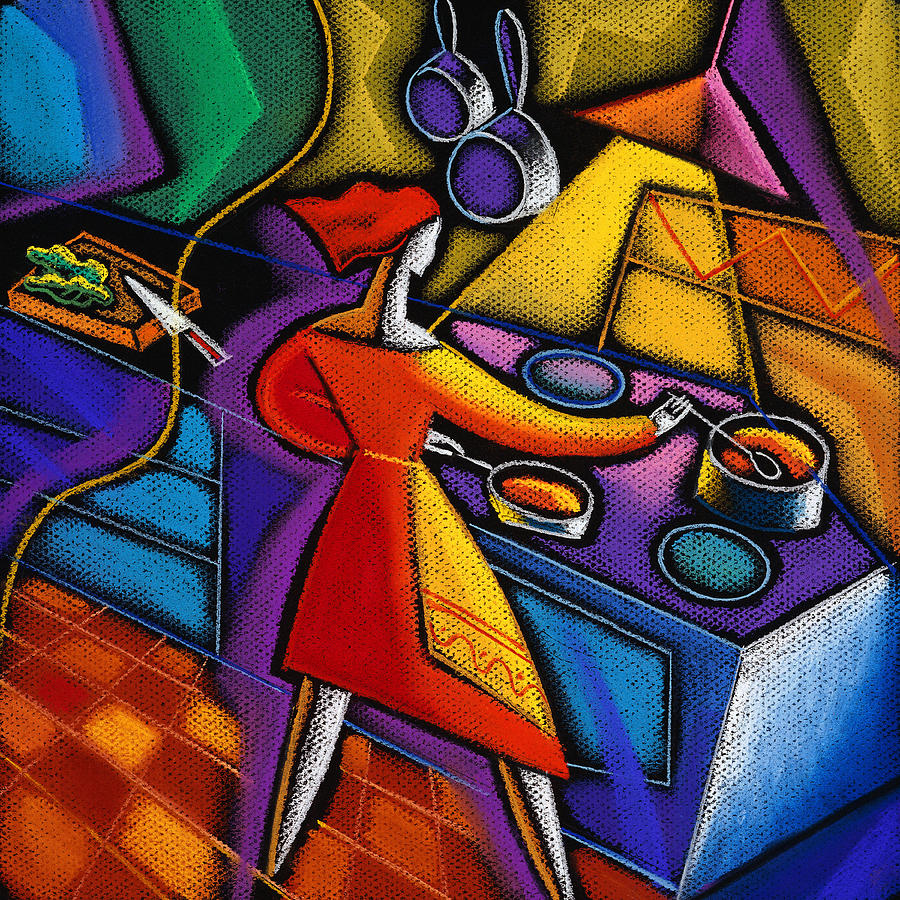 kitchen paintingPainting by Leon Zernitsky