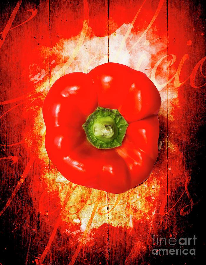 Kitchen Photograph - Kitchen Red Pepper Art by Jorgo Photography - Wall Art Gallery