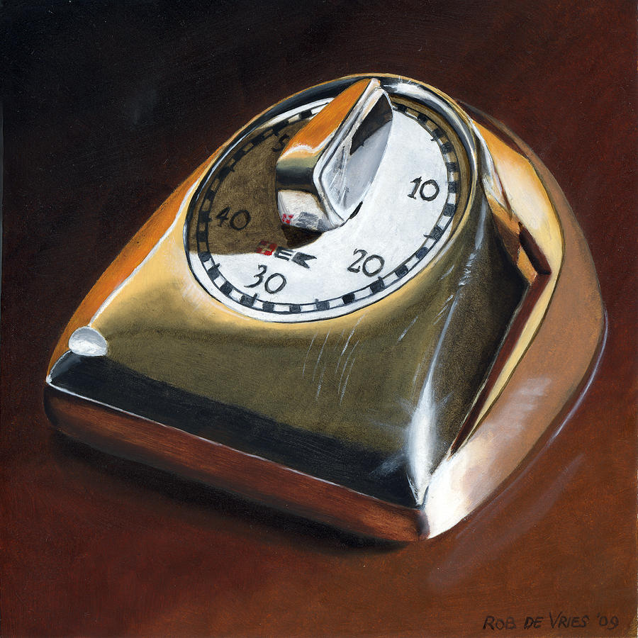 Kitchen Timer Painting - Kitchen Timer by Rob De Vries