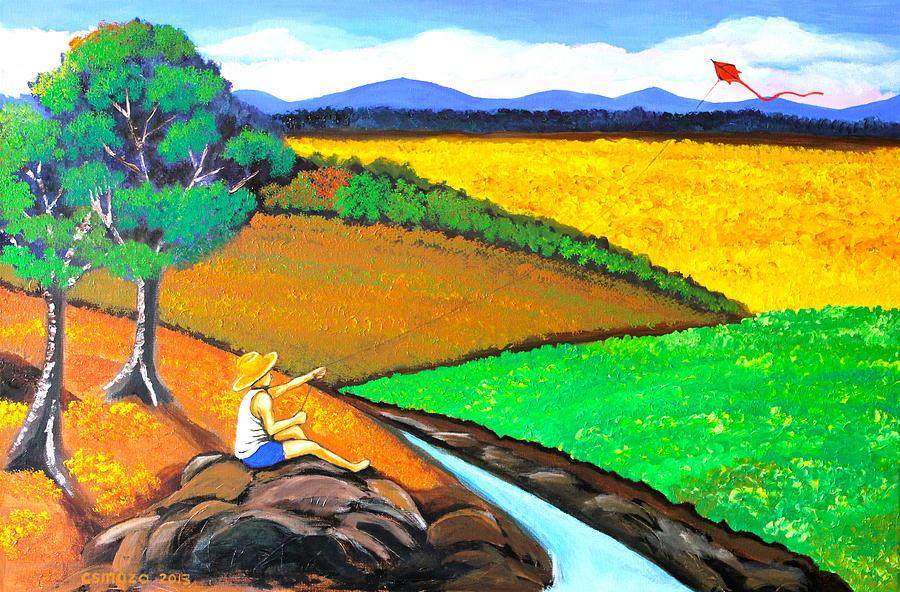 Kite Painting - Kite by Cyril Maza