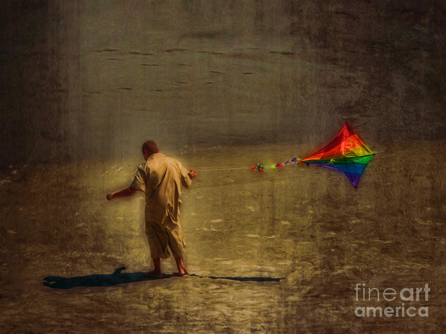 Kite Photograph - Kite Flying As Therapy by Jeff Breiman