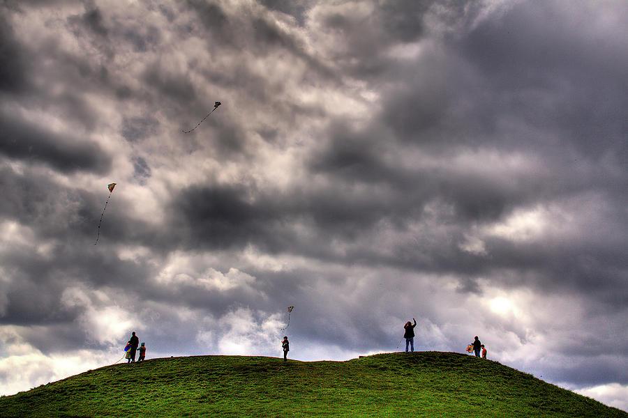 Kites Photograph - Kite Flying by David Patterson