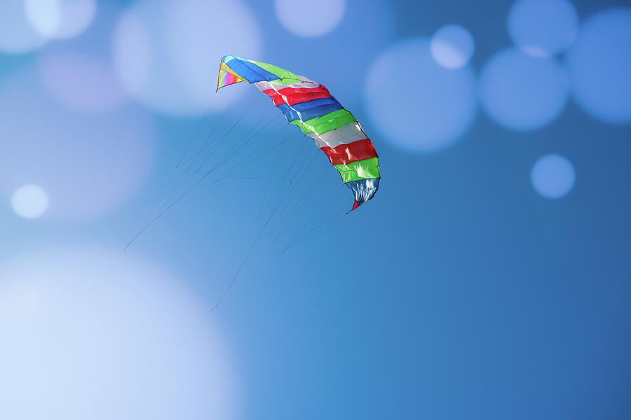 Kite Flying In The Blue Sky Photograph