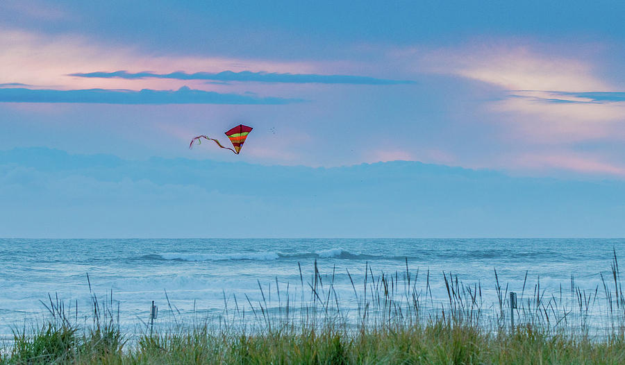 Kite in the Air at Sunset by E Faithe Lester