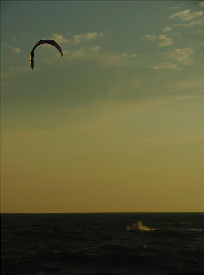 Surfer Photograph - Kite Surfer by Juergen Roth