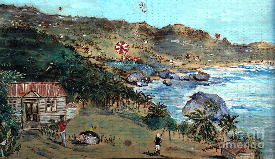 Kites at Bathsheba by Richard Jules