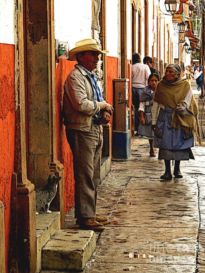 Mexico Photograph - Kitten In The Doorstep, Patzcuaro by Mexicolors Art Photography