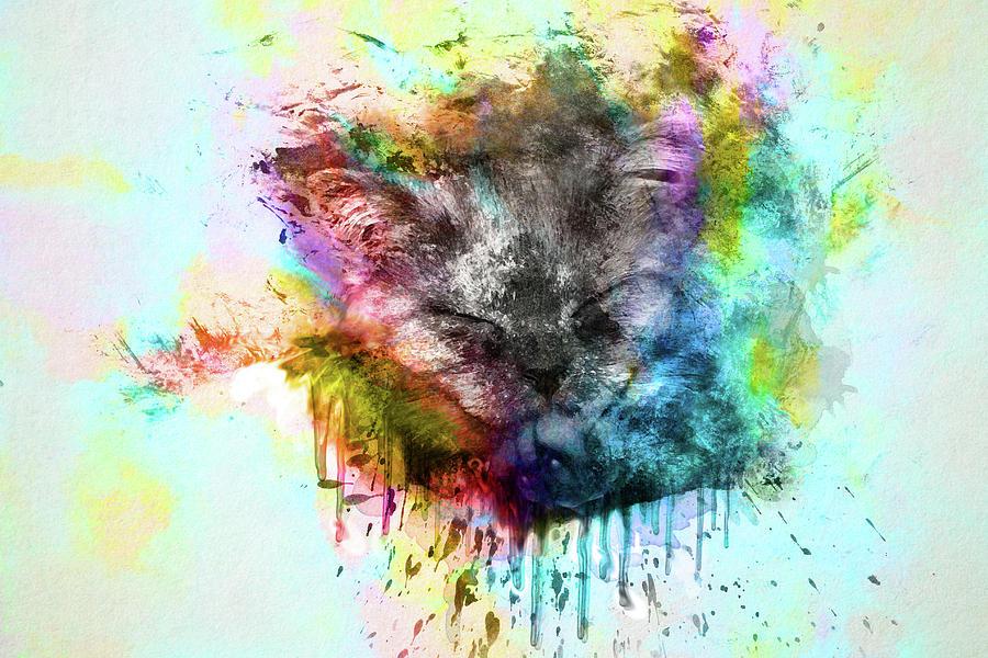 Kitten Drawing - Kitten by Tatiana Tyumeneva