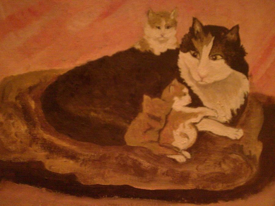 Kittens Painting by Helen Vanterpool