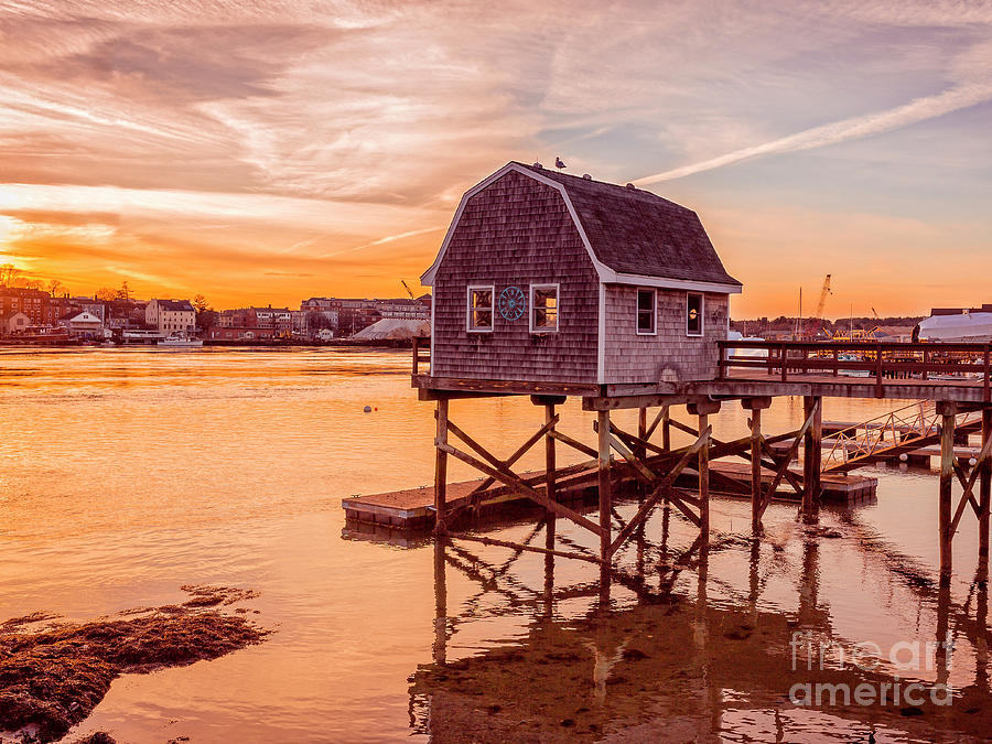Kittery Maine Harbor Sunset by Edward Fielding
