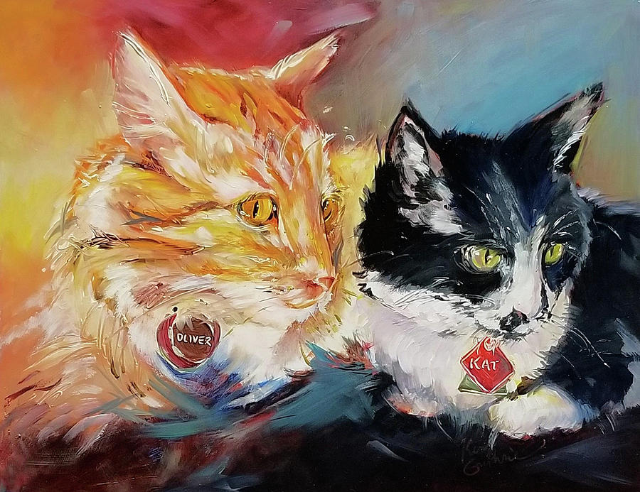 Kitty Cats Oil Painting Painting