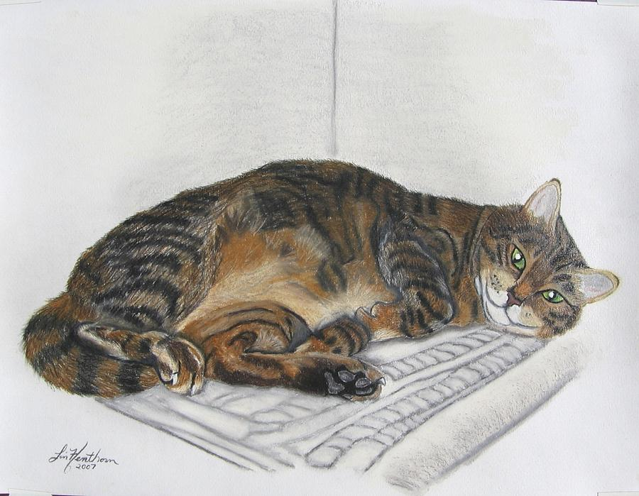 Cat Painting - Kitty Corner by Linda Henthorn