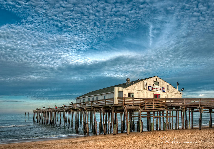 Kitty Hawk Pier And Altocumulus 5039 Photograph