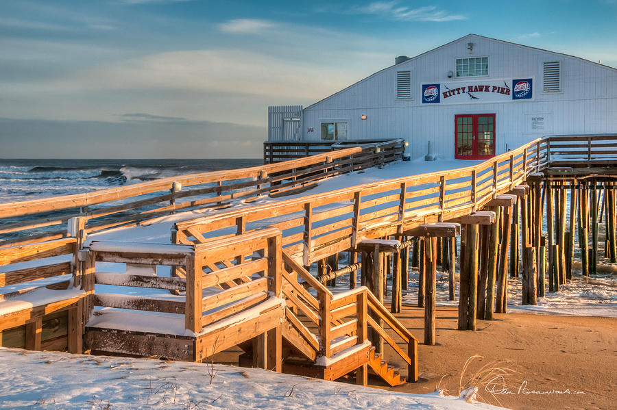 Kitty Hawk Pier In Snow 6652 Photograph