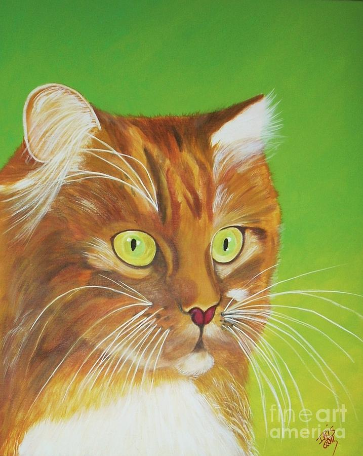 Animals Painting - Kitty by Iris  Mora