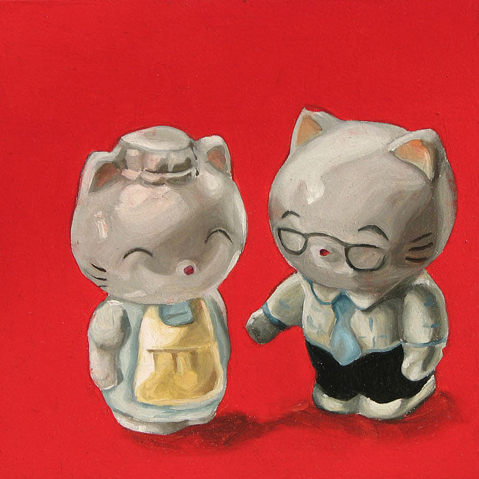 Kitty Painting - Kittys by Lucia Rodriguez