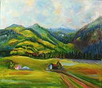 Landscape Painting - Kitzbuhel Mountains- Austria by Glynnis Sorrentino