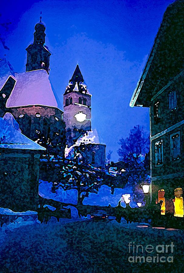 Kitzbuhl At Night-4 Photograph by Bob Phillips