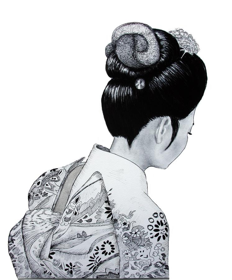 Japanese Drawing - Kiyo by Lorraine Foster