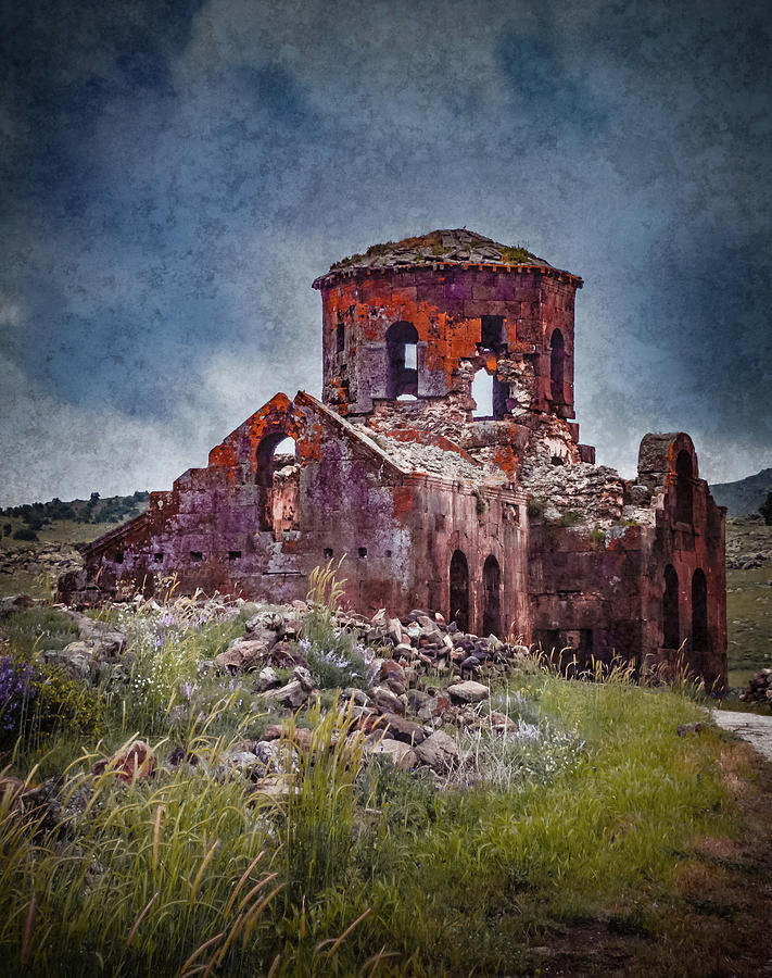 Near Guzelyurt, Turkey - Kizil Kilise - The Red Church by Mark Forte