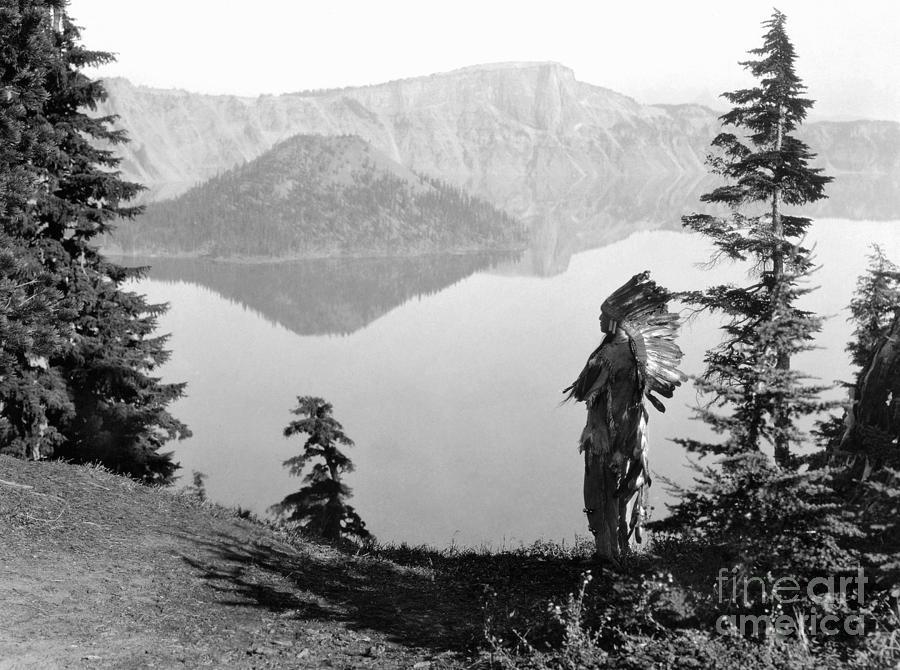 1923 Photograph - Klamath Chief, C1923 by Granger