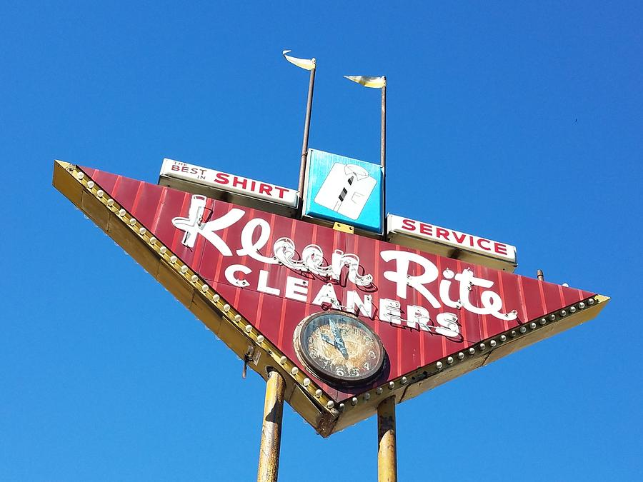 Kleen Rite Cleaners, Blue by Angela Comperry