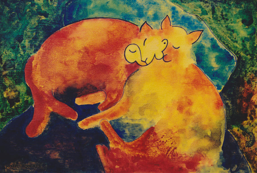 Klee S Sleeping Cats Painting By Eve Riser Roberts