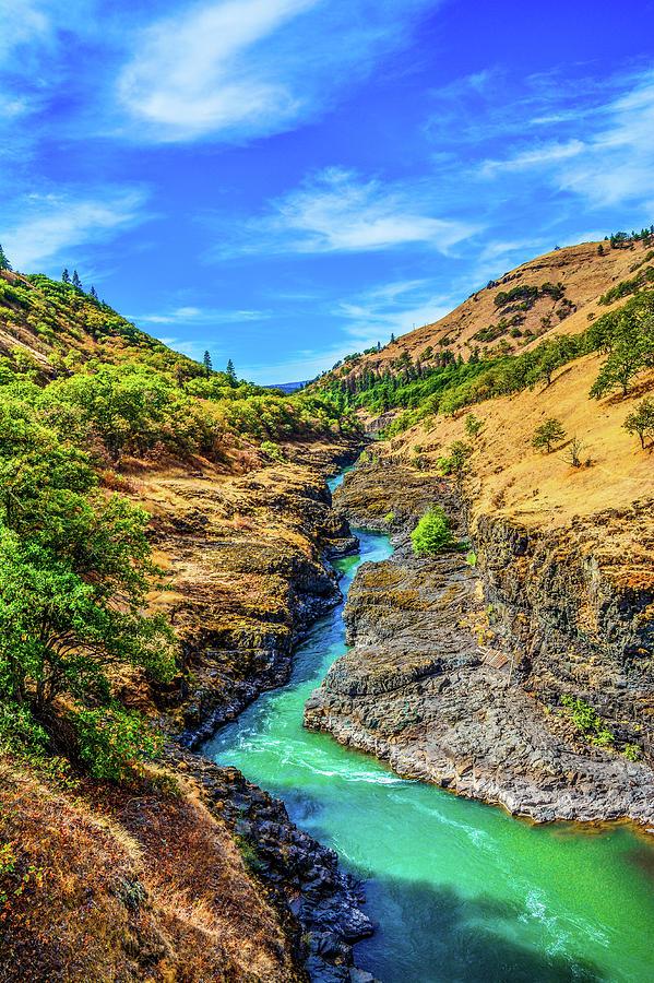Riverscape Photograph - Klickitat River Canyon by Jason Brooks