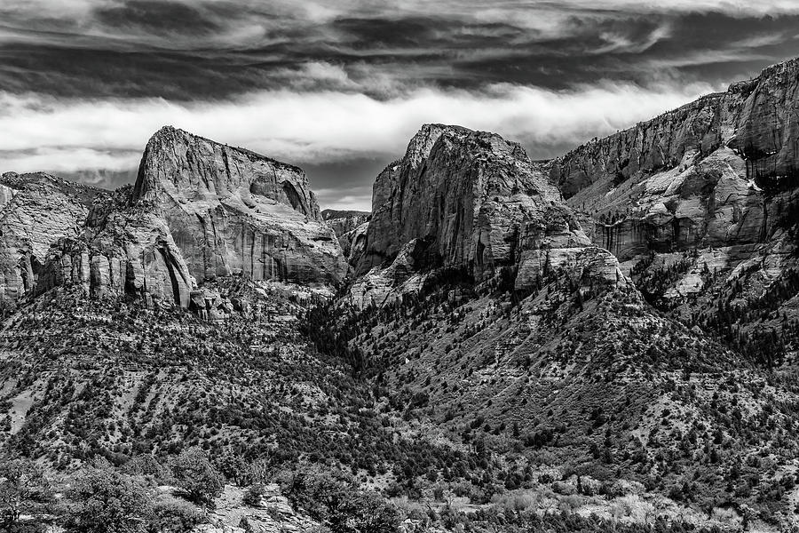 Landscape Photograph - Klob Canyon Bw1 by Don Risi