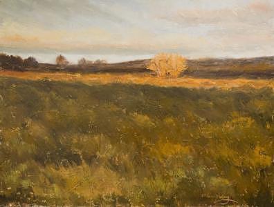 Landscape Painting - KM1029 Last Light by Kit Hevron Mahoney