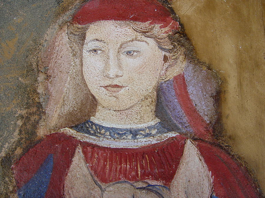 Fresco Painting - Knight by Maria Grazia  Repetto