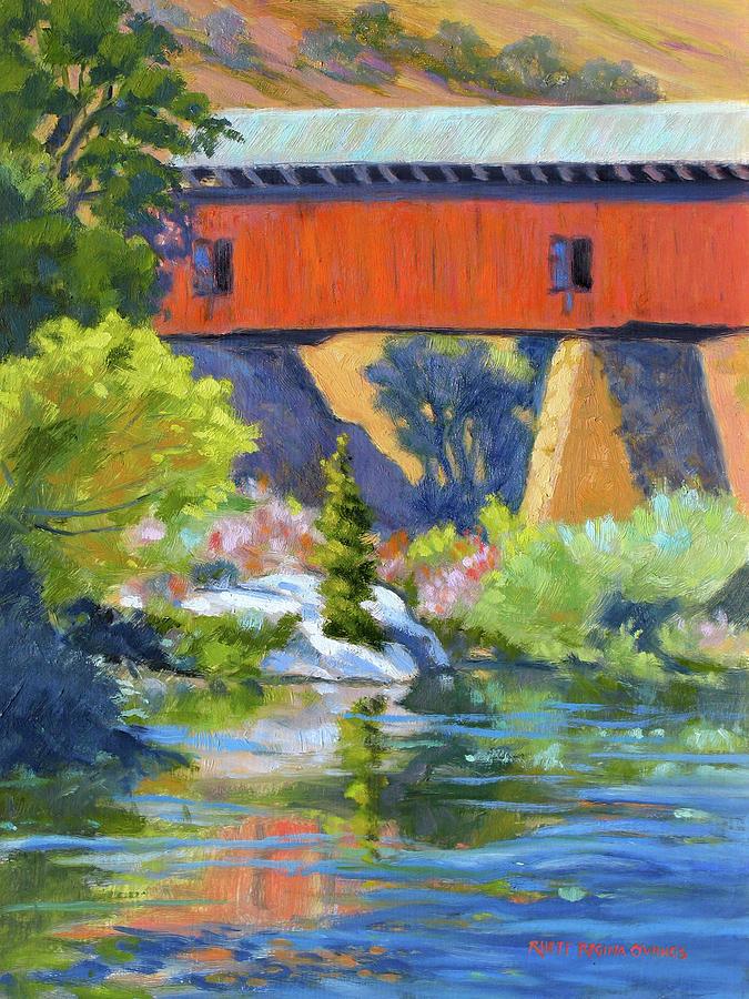 Knights Ferry Painting - Knights Ferry Bridge by Rhett Regina Owings