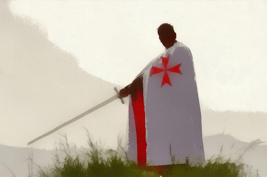 Templar Painting - Knights Templar 4 by Esoterica Art Agency