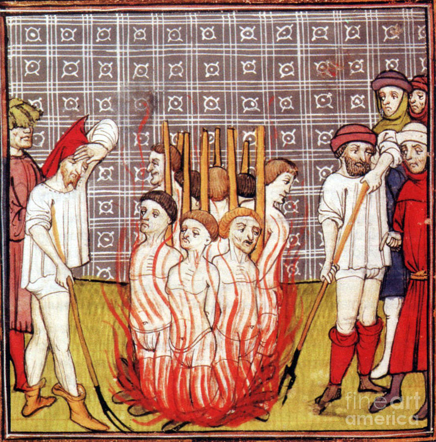 Image result for templars burnt at the stake