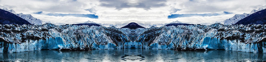Knik Glacier Reflection Digital Art
