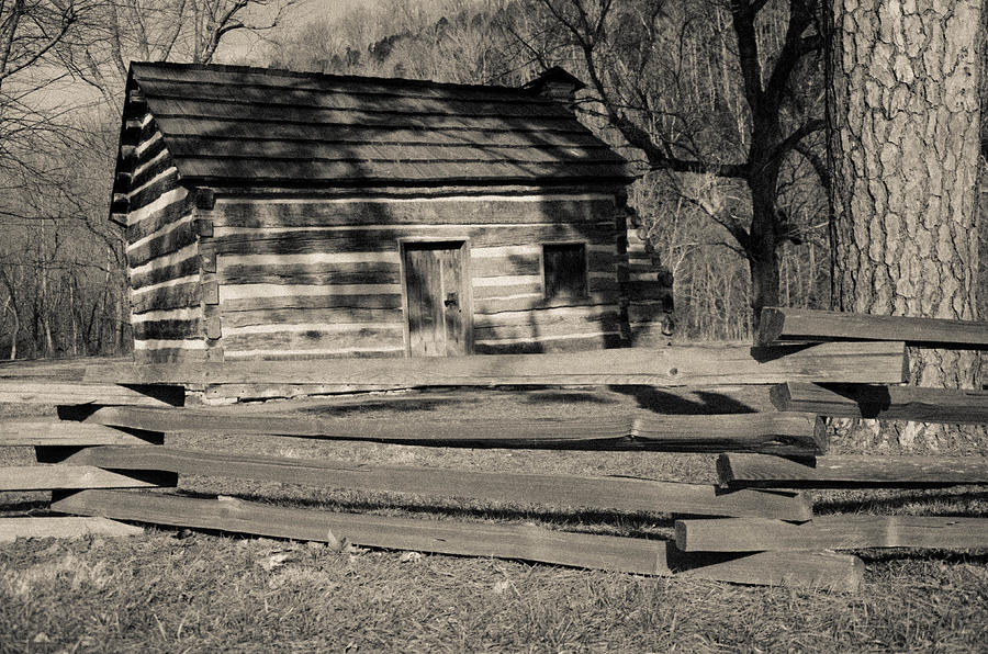 Lincoln Photograph - Knob Creek Cabin by Mark Bowmer
