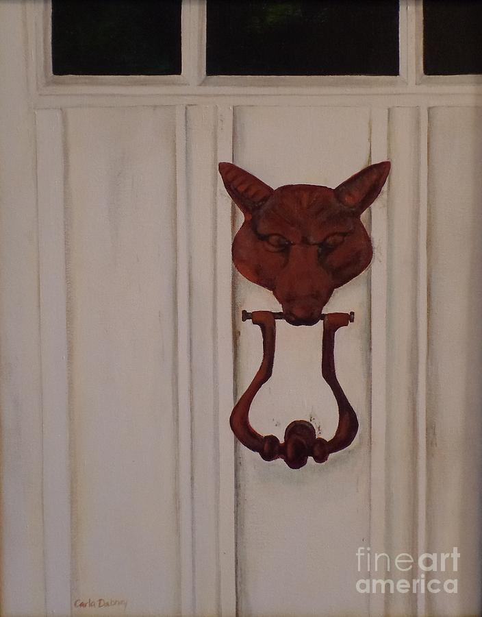 Fox Painting - Knock  Knock by Carla Dabney