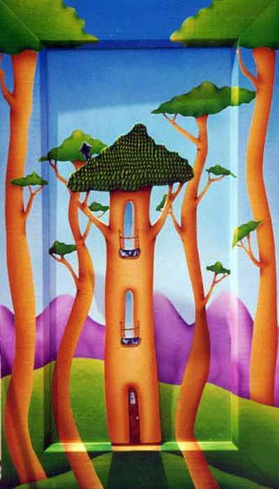 Trees Painting - Knock on Wood by Valerie Walsh