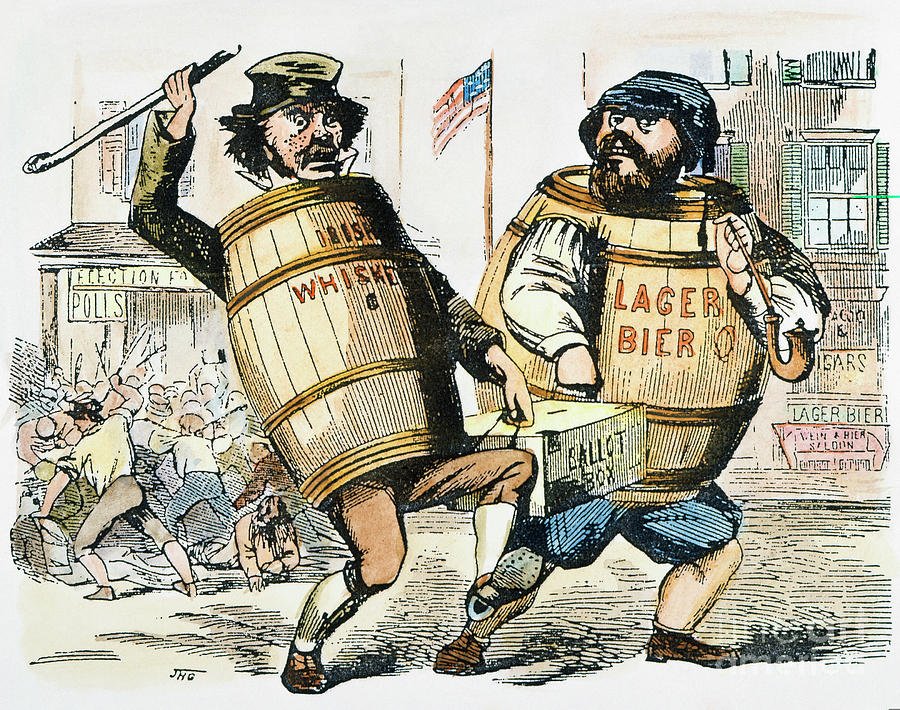 1850 Painting - Know-nothing Cartoon by Granger