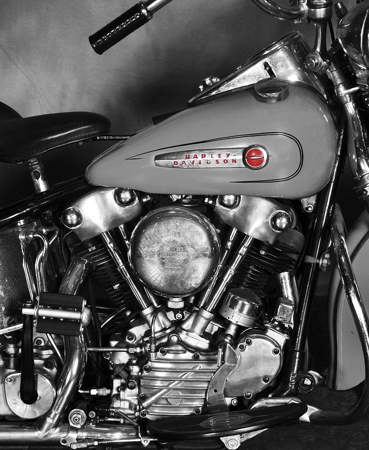 Harley Davidson Photograph - Knucklehead by Mark Rogan