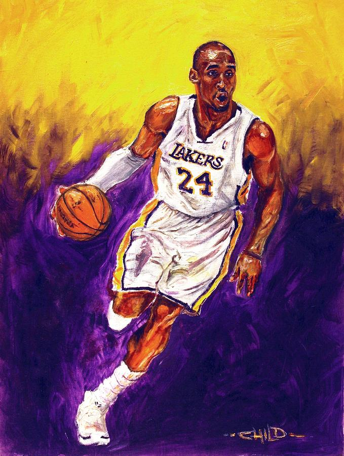 Kobe Bryant Painting - Kobe  by Brian Child
