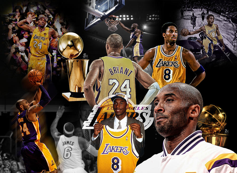 Kobe Digital Art - Kobe Bryant Career by Nicholas Legault