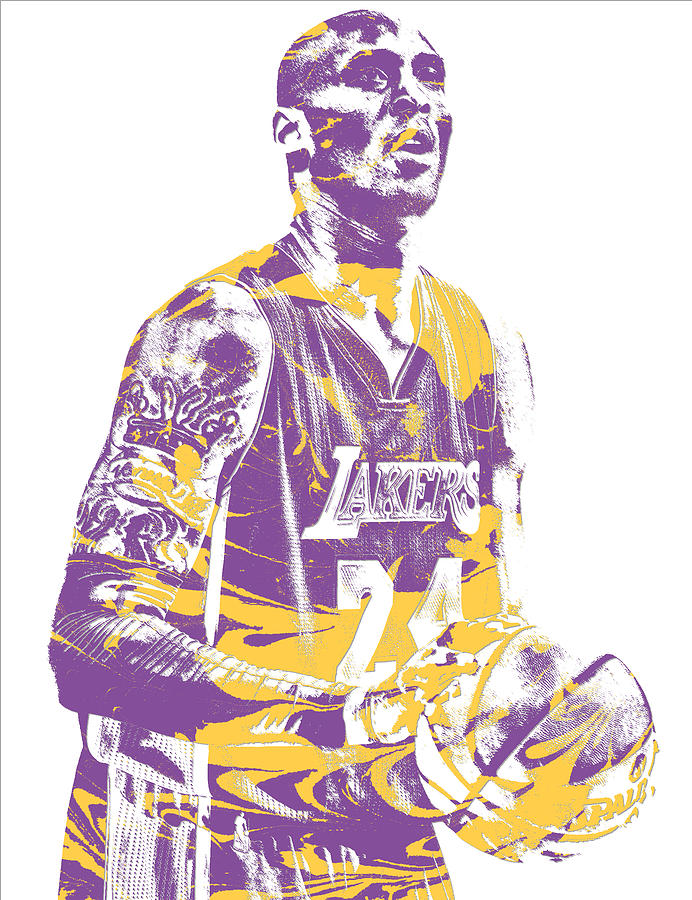 timeless design 60de8 6f26f Kobe Bryant Los Angeles Lakers Pixel Art 22