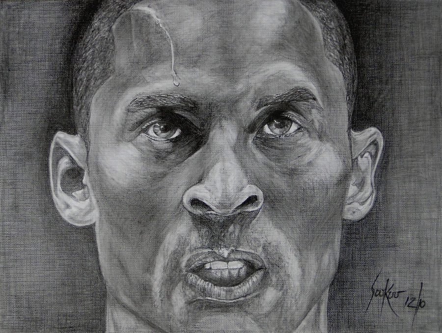 Kobe Bryant Drawing - Kobe Bryant by Stephen Sookoo