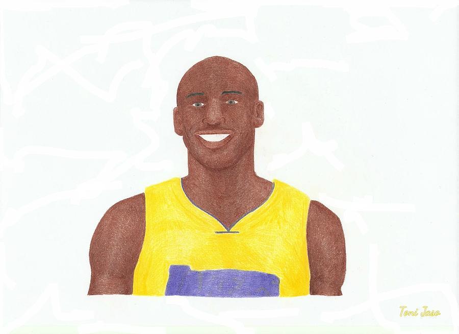 Basketball Drawing - Kobe Bryant by Toni Jaso