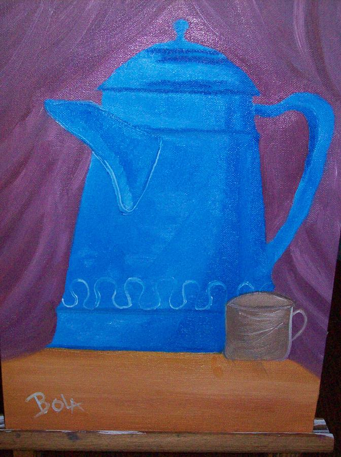 Still Life Painting - Koffee by Michel Bola