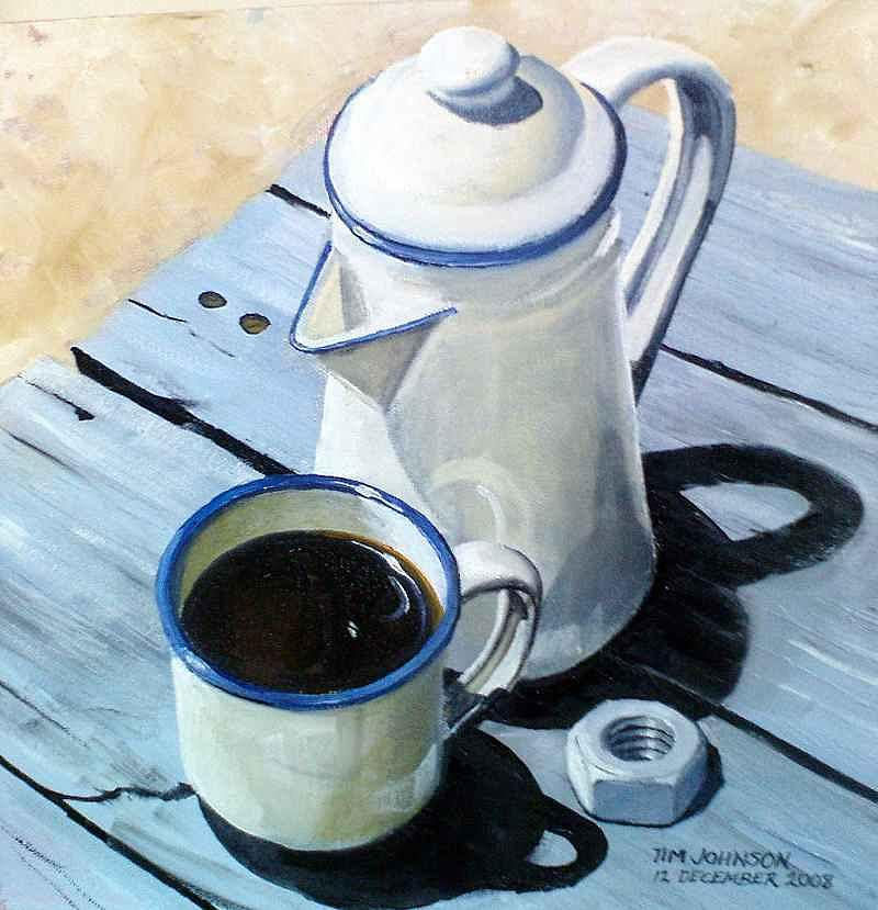 Coffee Painting - Koffie by Tim Johnson