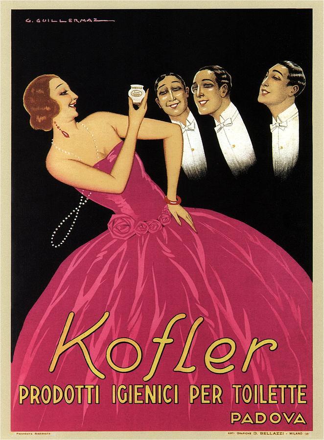 Kofler Prodotti Igienici Per Toilette - Padova, Italy - Vintage Advertising Poster Mixed Media