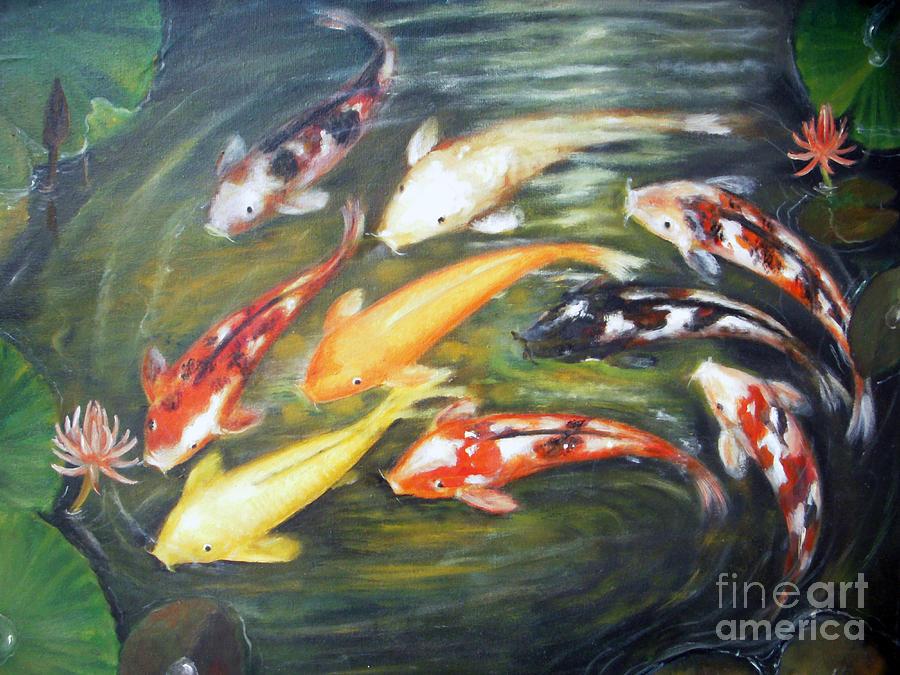 Koi Painting - Koi 1 by Edy Sutowo